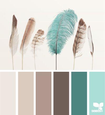 Farbpalette weiß bis türkis
