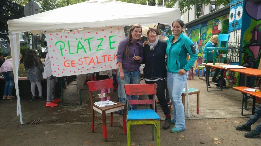 Lessingplatzfest - Team - Stühle gestalten