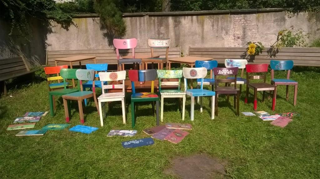 mit Kreidefarbe Stühle gestalten - Stuhl kreativ gestalten